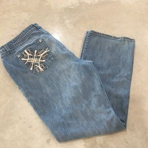 a.n.a. Bootcut Bling Jeans Size 20W